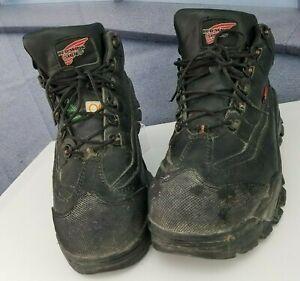 Red Wing Steel Toe Boot Shoes Black 3501 Waterproof Sz 11 EEE