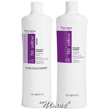 No Yellow Kit Max Shampoo 1000ml + Mask 1000ml Fanola ®Bleached Grey Blonde Hair