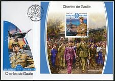 SOLOMON ISLANDS 2017  CHARLES DeGAULLE SOUVENIR SHEET FIRST DAY COVER