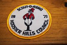 Vintage BSA Patch - Scout-O-Rama 1971 Hoosier Hills Council