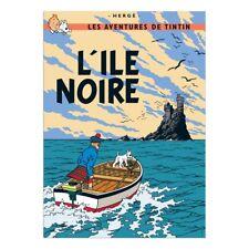 Affiche Offset Tintin L'île noire