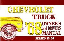 1968 Chevrolet Truck Owners Manual User Guide Reference Operator Book Fuses OEM
