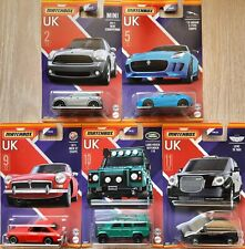 Matchbox Stars of UK (2021)|Countryman|MGB GT|F-Type|Defender 110|Scania P 360