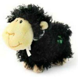 Huggable Friends Shaggy Black Sheep Soft Toy with Irish Shamrock