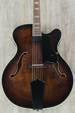 Washburn J600K Vintage Matte Jazz Electric Guitar with Hard Case +Cables