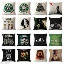 Decorative Throw Pillow Case Star Wars Darth Vader Yoda Sofa Cushion Cover 18""