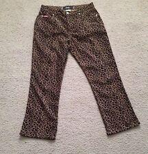 "Jalate Skinny Pants Size 11 Low Rise animal print 5 pocket 29"" inseam"