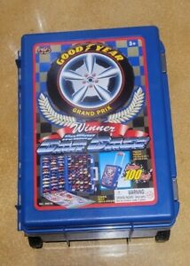 Vintage Goodyear Grand Prix 100 Car Rolling Carry Case (No Cars)