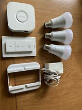 Philips Hue White and Colour Ambiance Starter Kit With 3 Bulbs And Dimmer Switch