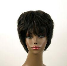 perruque afro femme 100% cheveux naturel méchée noir/cuivré SHARONA 03/1b30