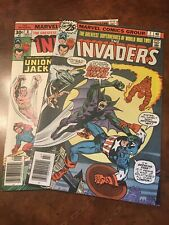 Lot of 2 Marvel The Invaders #7  8 comic books bronze age