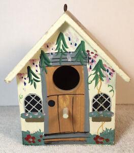 Beautiful Wood Handmade Painted Bird House Mini
