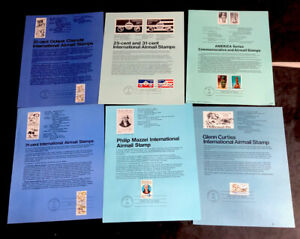 ODZ & ENDZ(11-11)6 G-VG DIFFERENT AIRMAIL FIRST DAY OF ISSUE SOUVENIR PAGES 1637