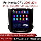 "9.7"" Tesla Style Android Car Stereo GPS For Honda CRV 2007-2011"