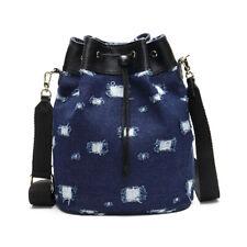 Women Denim Bucket Bag Shoulder Handbag Lady Backpack Casual Purse Fashion Pouch