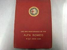 Alfa Romeo Factory 6C 1500 Manual