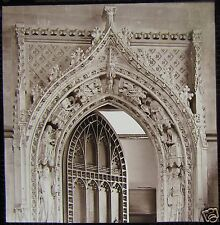 Glass Magic Lantern Slide CHAPTER HOUSE DOOR ROCHESTER CATHERAL C1900 PHOTO KENT