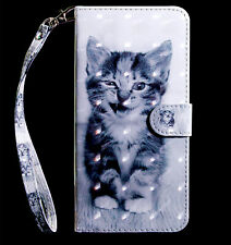 kitty Cat Pussy Multi-function flip Card slot wallet Leather protect case cover
