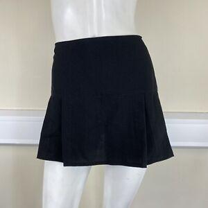 Select Ladies Black Smart Tailored Pleated Mid Rise Short Mini Skirt UK Size 12