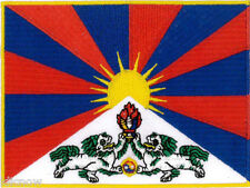 """Tibet (embroidered) Country Flag Patch 4 3/4""""x 3 1/2"""" (12cm x 9cm) approx"""