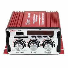 FM USB SD CD DVD MP3 Player 2-CH Output Digital Power Car Mini Amplifier AMP