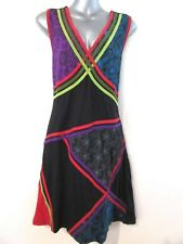 YAK & YETI Sleeveless Patchwork Alternative Soft Stretch Dress Quality NWT L XL