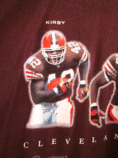 CLEVELAND BROWNS tee Terry Kirby & Kevin Johnson T shirt XL Tim Couch 2000 Brown