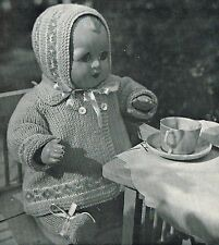 Dolls clothes knitting pattern. 14 inch doll. Laminated copy. (V Doll 144)