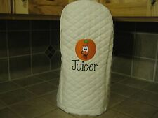 New quilted machine embroidered cover for a Juicer, with cute orange picture