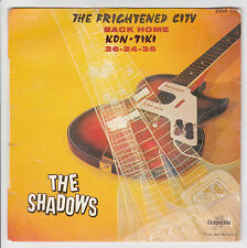 THE SHADOWS Vinyl 7'' 45T THE FRIGHTENED CITY -KON TIKI -COLUMBIA 1378 Languette