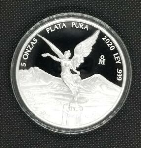 2020 5 oz Mexican Silver Libertad Coin Proof in Capsule Minted 2,950