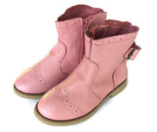 New 100% Leather zip up Boots pink black appx 3-6yrs girls children kids