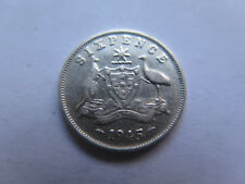 1945 AUSTRALIA SILVER 6 PENCE King George VI in VERY NICE COLLECTABLE CONDITION