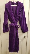 BY LORA Terry Robe Unisex Spa Wrap Purple Eggplant 100% Cotton One Size