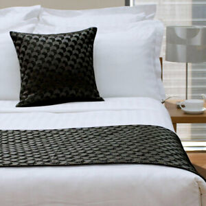 Regency Black (Also Known as Ink Blue) Bed Runner or Square Cushion by Jason