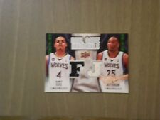 2009-10 UPPER DECK DUAL GAME MATERIALS RANDY FOYE- AL  JEFFERSON TIMBERWOLVES