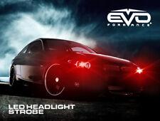 Evo Formance Universal Led Strobe Headlights Kit 3 Watt Red For Car Truck