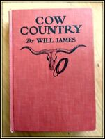 """Cow Country"" by Will James, 1943 Scribner's Hardcover"