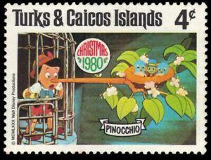 """TURKS and CAICOS 447 - Disney Christmas """"Pinocchio"""" (pa94214)"""