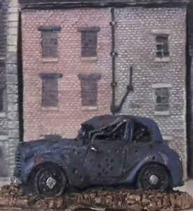 20mm 1/72 scale WWII  3 x CIVILIAN CARS wargames terrain objective cover