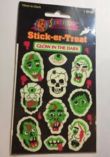 Sandylion Glow in the dark skulls Stickers lot of 2 SHEETS 3 X 6.5