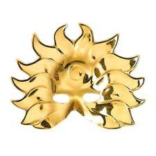 Maschere Widmann oro in plastica per carnevale e teatro