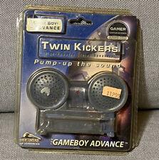 Vintage Nintendo Gameboy Advance Twin Kickers Speakers In Package *Read