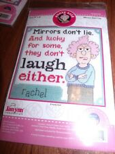 "Janlynn Aunty Acid MIRRORS DON'T LIE Counted Cross Stitch Kit 8"" x 8"""