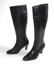 Kniehohe Buffalo Stiefel aus Echtleder mit Reißverschluss