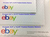 Ebay Shipping Supplies Assorted Padded Bubble Mailers Envelope Starter Kit Lot