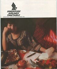 SINGAPORE AIRLINES TIMETABLE AUGUST-OCTOBER 1981