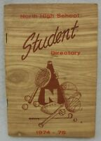 North High School Evansville Indiana 1974-75 Student Directory Booklet