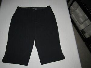 "Nike Golf Women's Dri-Fit Black Golf Capri Pants Size 12 Waist 34"" Inseam 15"""