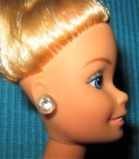 VINTAGE SUPER STAR BARBIE DOLL CLEAR DIAMOND RHINESTONE SUPERSTAR OLD EARRINGS!